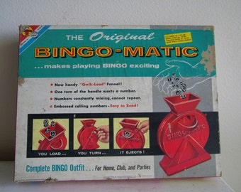 Vintage Bingo-Matic Transogram Game in Box 5984