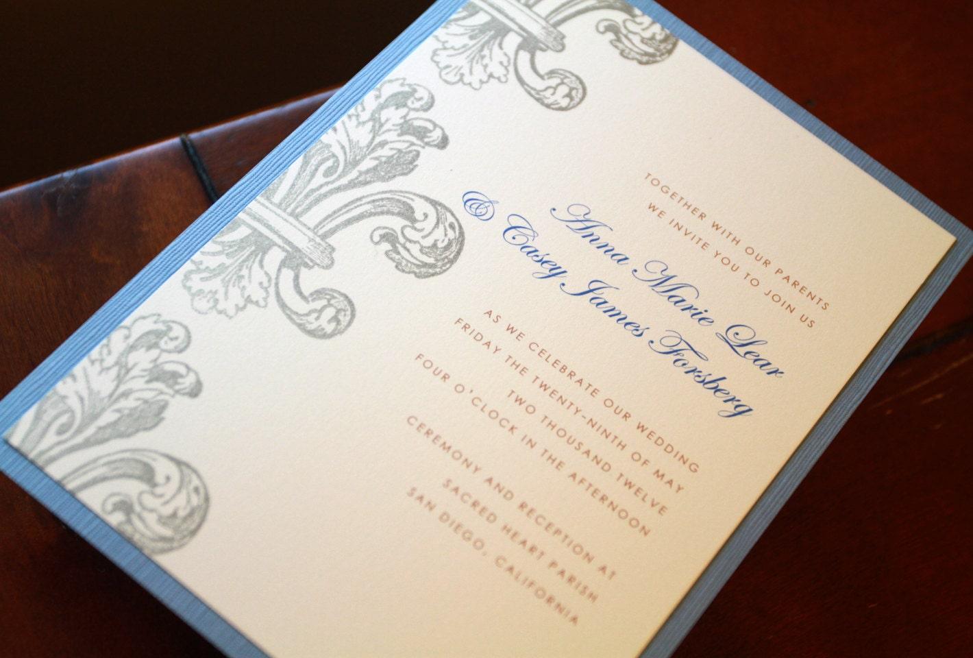 Fleur De Lis Invitations Wedding Invitations Custom Invites New