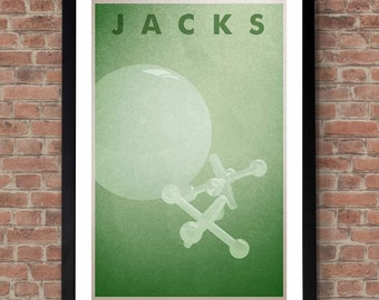 Ball and Jacks print