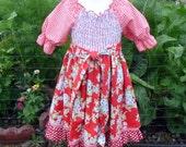 Little Darling Smocked Floral Petticoat Dress