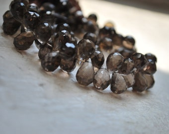 1/2 strand of smoky topaz tear drops WHOLESALE PRICE 25.00