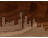 Seattle Skyline 6x18 - Walnut