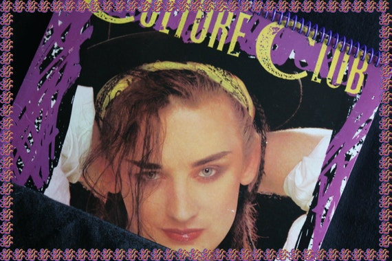 Culture Club Recycled Album Cover Spiral Notebook Journal Sketchbook