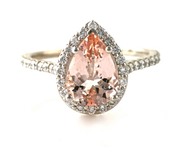 Rose Gold Engagement Rings Rose Gold Engagement Rings Pear Cut