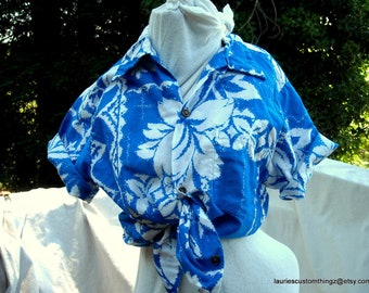 Island Casuals Waikiki Made in Hawaii Vintage Hawaiian Shirt super soft Cotton Sateen sz 40 mens small or Ladies go Unisex a Classic Mint
