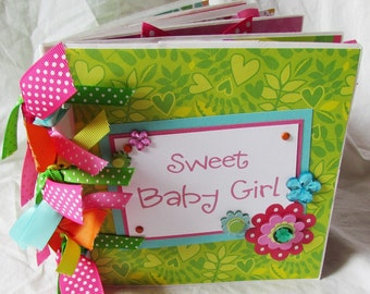 Mini Album BABY GIRL -- PaPeR BaG Premade Scrapbook -- YoU PiCK, choose your paper collection