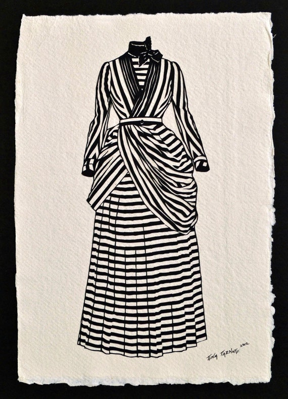 Sale 20% Off // VICTORIAN DRESS Papercut - Hand-Cut Silhouette // Coupon Code SALE20