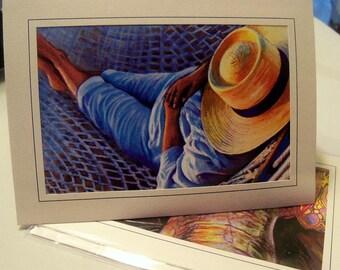 Greeting card print of original art- Lazy Days of Summer