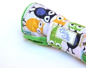 Baby Changing Pad Owl Fabric Kelly Green Travel Changing Pad, Made to Order