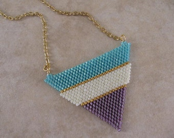 Seed Bead Beadwoven Pendant/Necklace