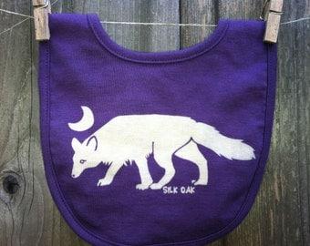 Arctic Fox Organic Cotton Bib