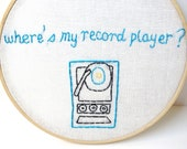 MOONRISE KINGDOM quote.  embroidery hoop art.  Embroidered quote