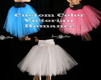 Tutu skirt Adult Custom Color Victorian Romance knee length dance costume petticoat bridal wedding - You Choose Size - Sisters of the Moon