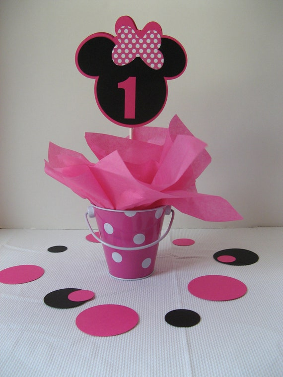 Items similar to minnie mouse centerpiece on etsy