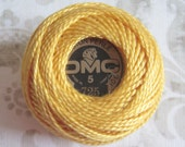 DMC Pearl Cotton Balls Size 8 - 725 Topaz Yellow