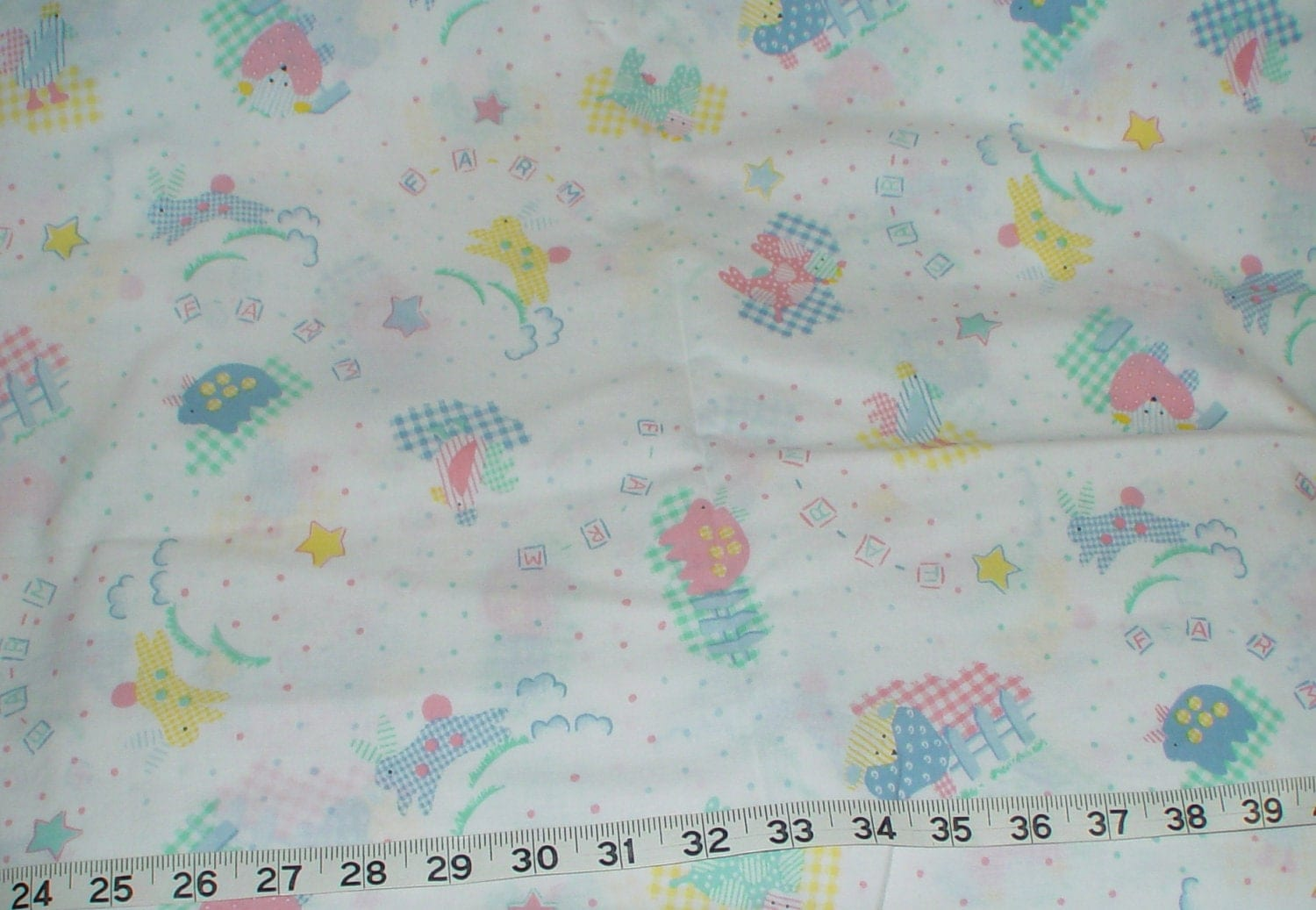 Baby nursery shower fabric 1 yard for Nursery fabric