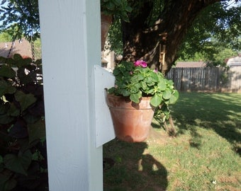 Outdoor (2) Plant Holders for Fence, Tree,  Deck or Deck Post