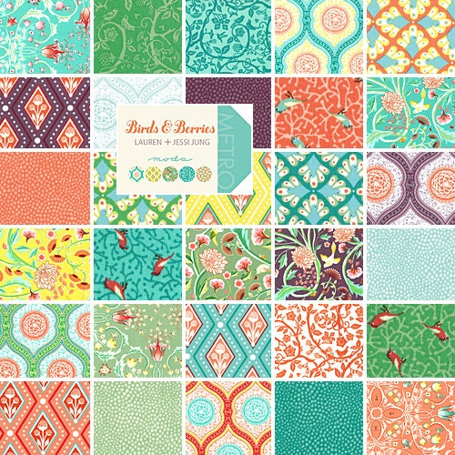 Moda Birds And Berries 5 Charm Pack Fabric Quilting