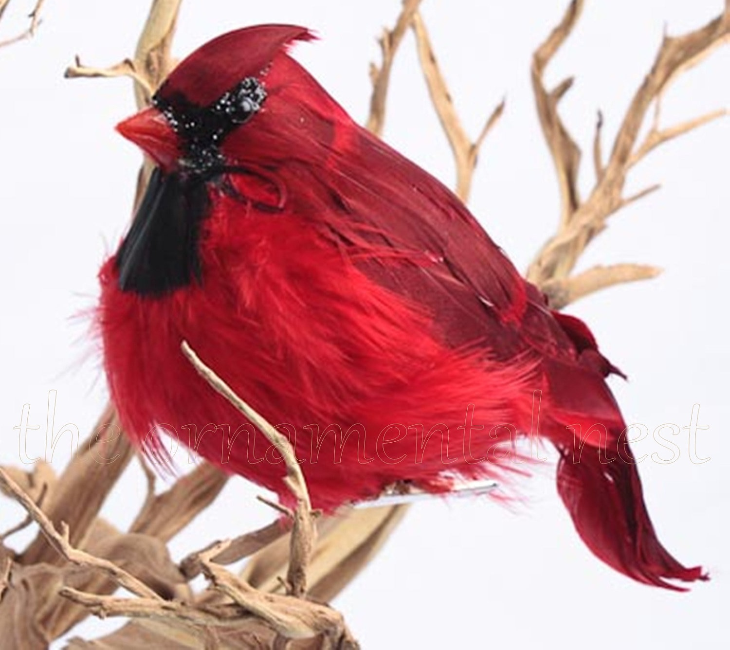 Birds On Christmas Tree: Sparkling Red Male Cardinal Song Bird Valentines Day Christmas