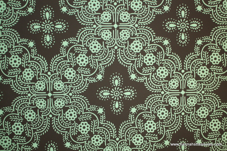 green vintage wallpaper - photo #13