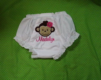 TLB Custom Personalized Mod Monkey Diaper Cover Bloomers