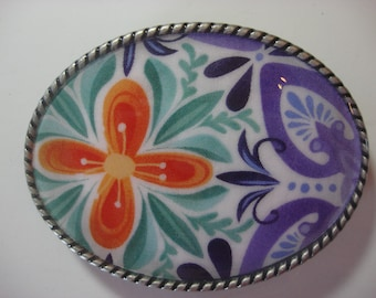 China Train 2 Belt Buckle - Jada Oval Wearable Art