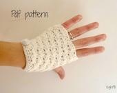 PDF Pattern - Hand warmers - fingerless gloves mittens - Sunny shell
