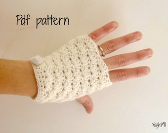 PDF Pattern - Hand warmers - fingerless gloves mittens - Sunny shell