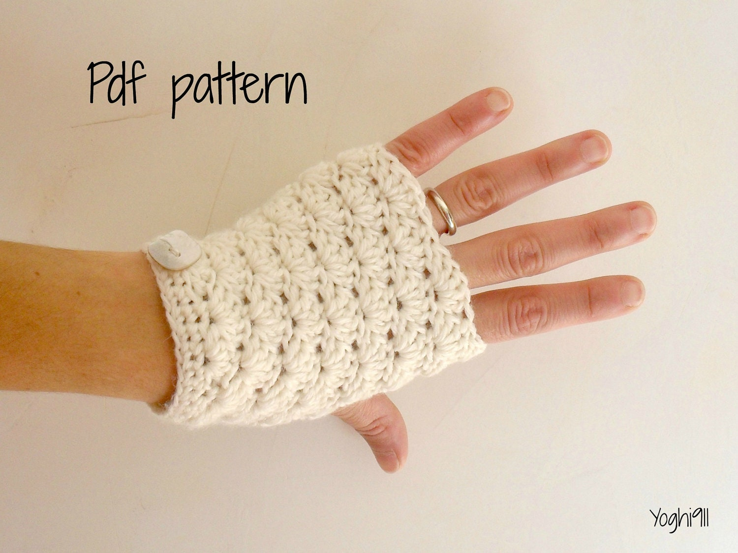 Free Crochet Patterns Hand Warmers : PDF Pattern Hand warmers fingerless gloves mittens by yoghi911