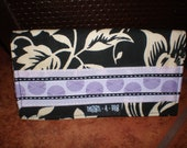 Fabric Floral Checkbook Case Cover