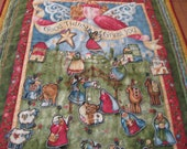 Nancy Halvorsen Designed Nativity Wall Hanging Advent Calendar Good Tidings of Great Joy