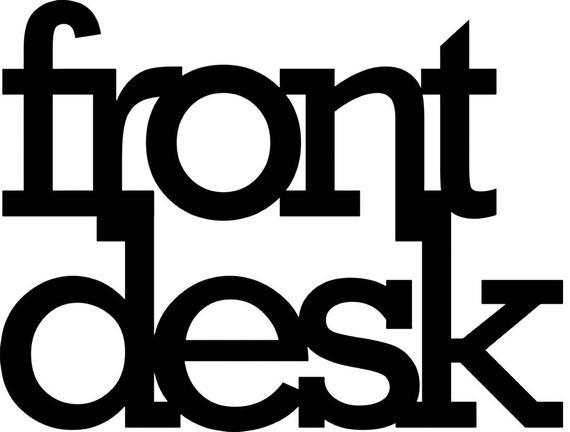 Custom front desk black acrylic sign
