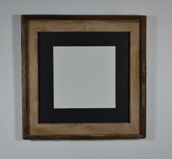 12x12 Barnwood Frame 12x12 Black 8x8 Mat Great By Barnwood4u