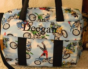 Dirt Bike Diaper Bag w/changing pad by EMIJANE
