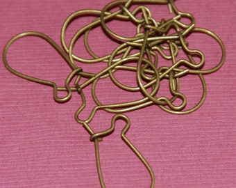 Bulk 300 pcs of antique Brass Kidney Earwire 19x10mm