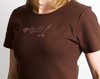 Love Golf-Crystal T-Shirt (4 Colors Available)
