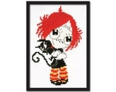 Ruby Gloom Cross Stitch Pattern Instant Download