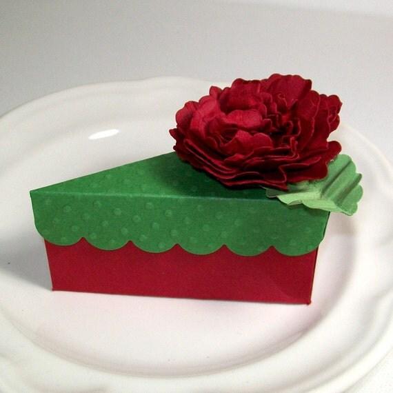 wedding favors box cake slice box party favor by acarrdiancards. Black Bedroom Furniture Sets. Home Design Ideas