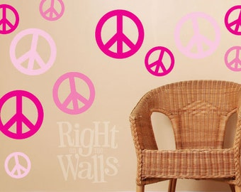 Peace wall decal | Etsy