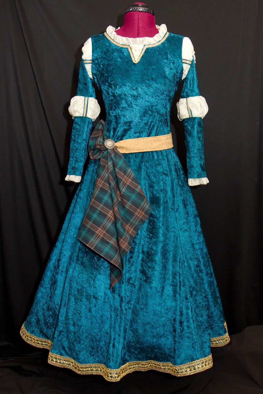 Princess merida custom made child costume - Deguisement rebelle adulte ...