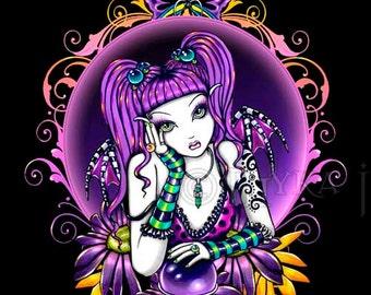 Emilicious Rainbow Butterfly Flower Fairy Art Print