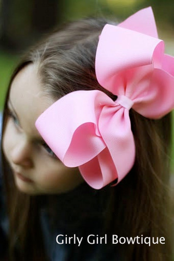 Large six inch classic Boutique loopy style hair bow
