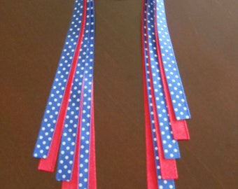 35% OFF--Small Pony O--Pony Streamers--Team or School Colors--Blue and Red--Cougars