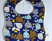 Happy Whales bib