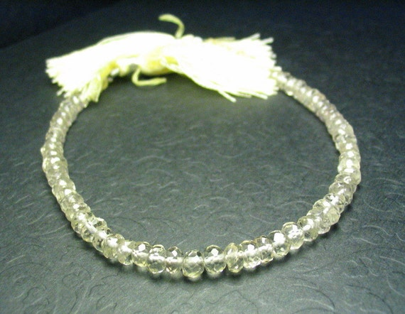 Faceted Rondelle 5mm Oregon Sunstone Strand 8 inches