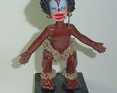 Black Little Native Girl -Porcelain - Vintage -So Decorative and  a Cutie