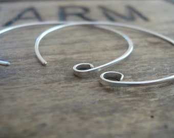 4 Pairs of my Shoals Sterling Silver Earwires - Handmade. Handforged