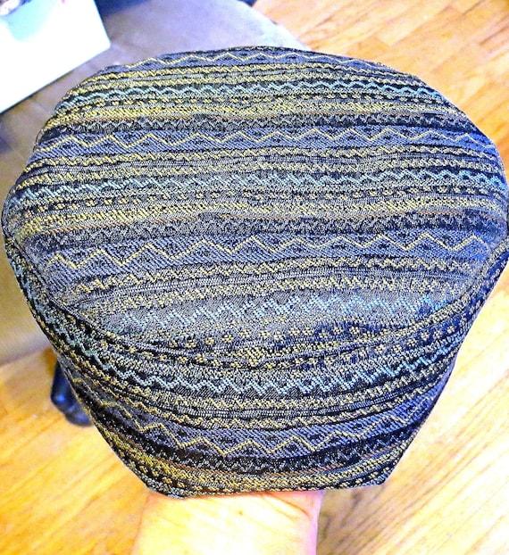 Bucharian kippah with tapestry trim Sephardic hat style yarmulke ...
