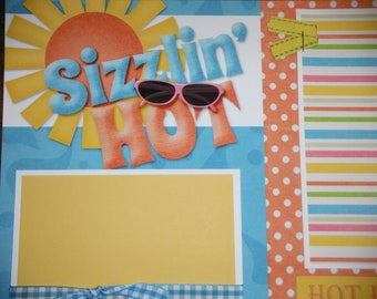 Sizzlin' Hot Premade 12x12 Scrapbook Pages for the Beach Boy GIRL SUMMER
