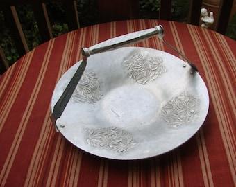Vintage Everlast Hammered Forged Aluminum Basket with Flowers
